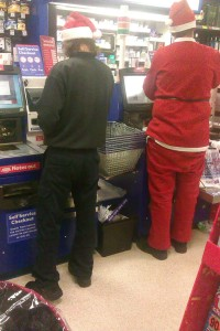 My daddy told me that he saw these two guys at the elf service counter when he was at the supermarket...
